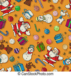 Seamless Christmas pattern design