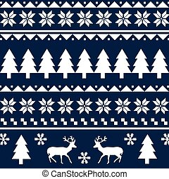 Seamless Christmas pattern or scandynavian pattern, vector ...