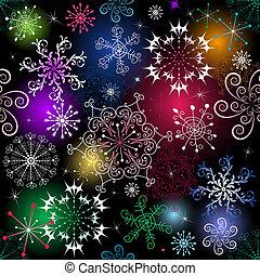 Seamless christmas pattern - Seamless black christmas...