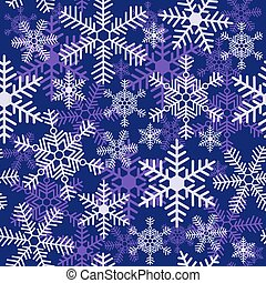 Seamless Christmas pattern with different snowflakes