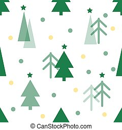 seamless christmas pattern with green pine tree