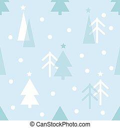seamless christmas pattern with pine tree