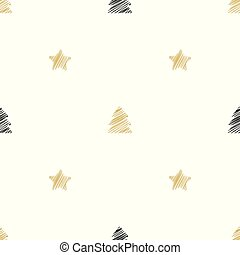 Seamless Christmas pattern with stars. Holiday background.