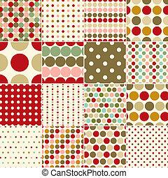 seamless christmas polka pattern