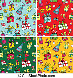 Seamless christmas presents pattern