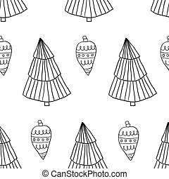 Seamless christmas scandinavian style doodle pattern