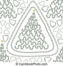 seamless christmas season with pine trees with green leaves pattern background