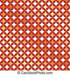 Seamless Christmas Star Pattern