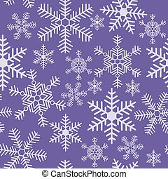 Seamless christmas texture with a snowflakes on a purple background