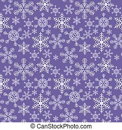 Seamless christmas texture with snowflakes on a blue background