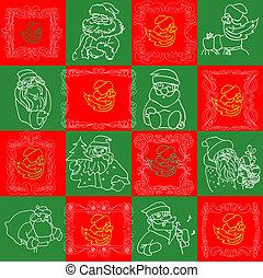 Seamless Christmas Wallpaper Pattern art
