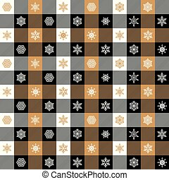 Seamless Christmas wrapping paper pattern. Christmas Gingham...