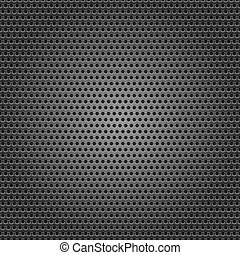 Seamless chrome metal surface, background perforated sheet