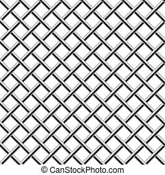seamless, chroom, braided, diagonaal, grill, vrijstaand, op, white.