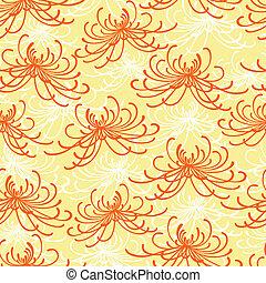 seamless, chrysantemum, パターン