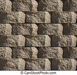 Seamless pattern of stacked Cinder Block Wall, repeatable background tile.