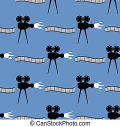 Seamless Cinema Pattern. Film Strip Background