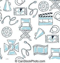 Seamless cinema pattern