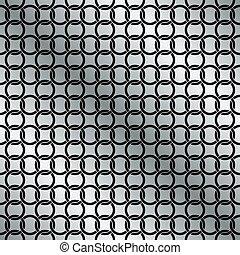 Seamless Circle Chain Interlink Pattern Background Texture