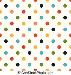 seamless circle dots pattern