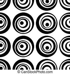 Seamless Circle Pattern. Abstract Black and White Background...