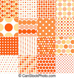 seamless circle polka dots