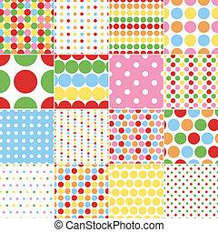 seamless circle polka dots
