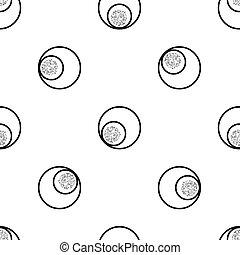seamless circle shape with silver dot glitter pattern background