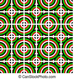 Circles of different color form a seamless pattern.