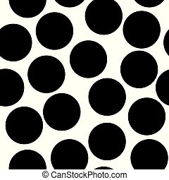 Seamless circles, dots pattern. Seamlessly repeatable polka dot background. Black and white version s