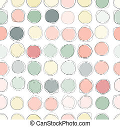 Seamless colorful circles pattern background