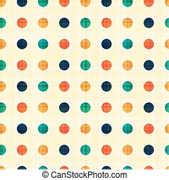 seamless circles polka dots pattern