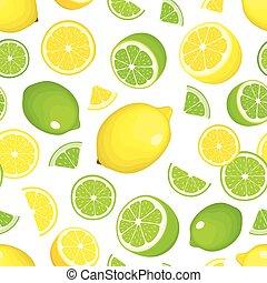 Seamless citrus background