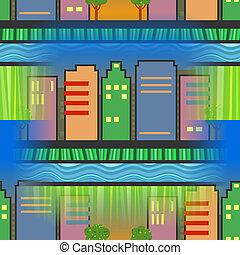 Seamless City Skyscraper Scene