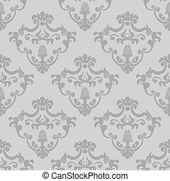 Seamless classic design vector wallpaper - Seamless classic...