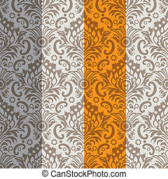 Seamless Classic Wallpaper Background, Color Set, editable...