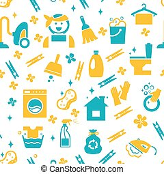 Seamless cleaning pattern