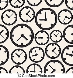 SEAMLESS CLOCK PATTERN BACKGROUND