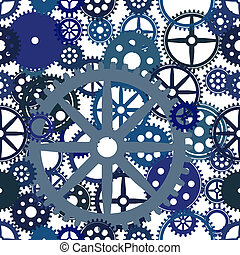 Seamless clockwork background, vector Eps8 image
