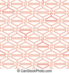 seamless clothe hanger pattern background