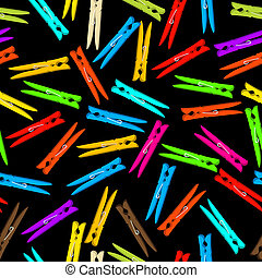 Seamless clothespin - Seamless background composition with...