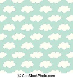 Seamless clouds pattern.