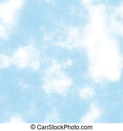 Seamless Clouds with a Blue Sky in the Day