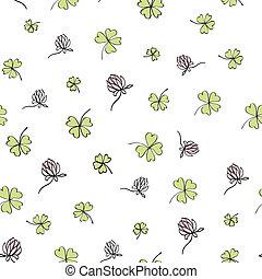 Seamless clover background. Vector, EPS8