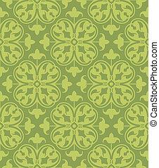 Seamless Clover Damask Pattern - A seamless floral damask ...