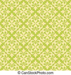 Seamless Clover Damask Pattern - A seamless floral damask...