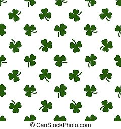 Seamless clover leaves background. St. Patricks day.