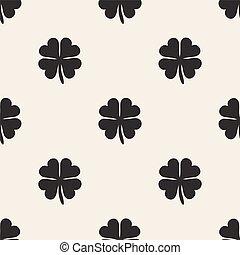 seamless clover pattern background