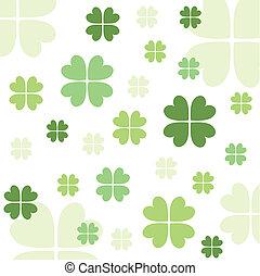 Seamless clover pattern