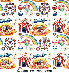 Seamless clowns and circus